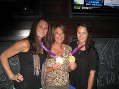 Mrs. Ralph with her GOLD medal nieces